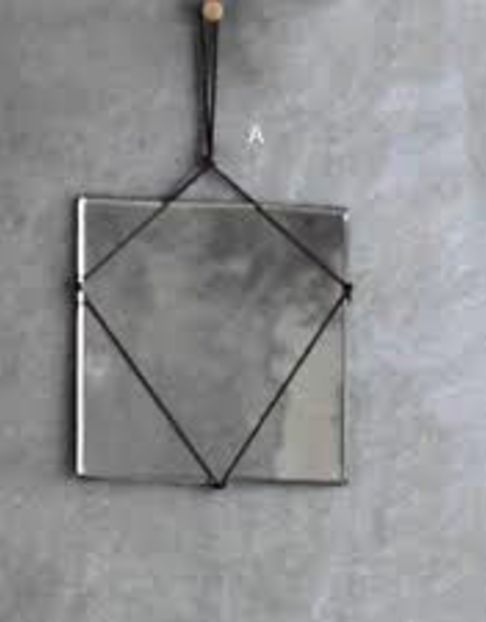 Frameless Square Mirror with Cord - Reg $99 Now $49