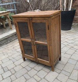 "Vintage Distressed Wood Cabinet L29 x W15 x H37.5"""