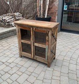 "Vintage Wooden Cabinet L35.5 x W16 x H35.5"""