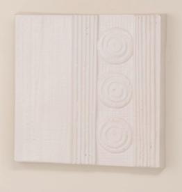 Petra Triple Circle Wall Panel - Matte White