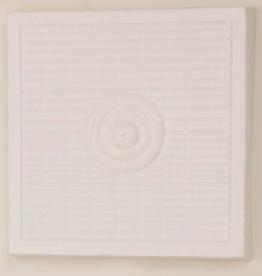 Petra Single Circle Wall Panel - Matte White