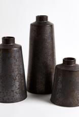 Large Bronze Taper Vase