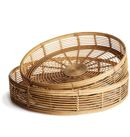Large Blonde Natural Bamboo Tray