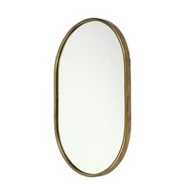 "Sylvia Oval Gold Metal Frame Mirror 24""x35"""