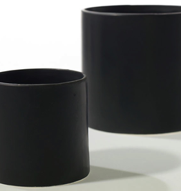 """Small Matte Black Cercle Pot D4.25"""" H4.25"""""""