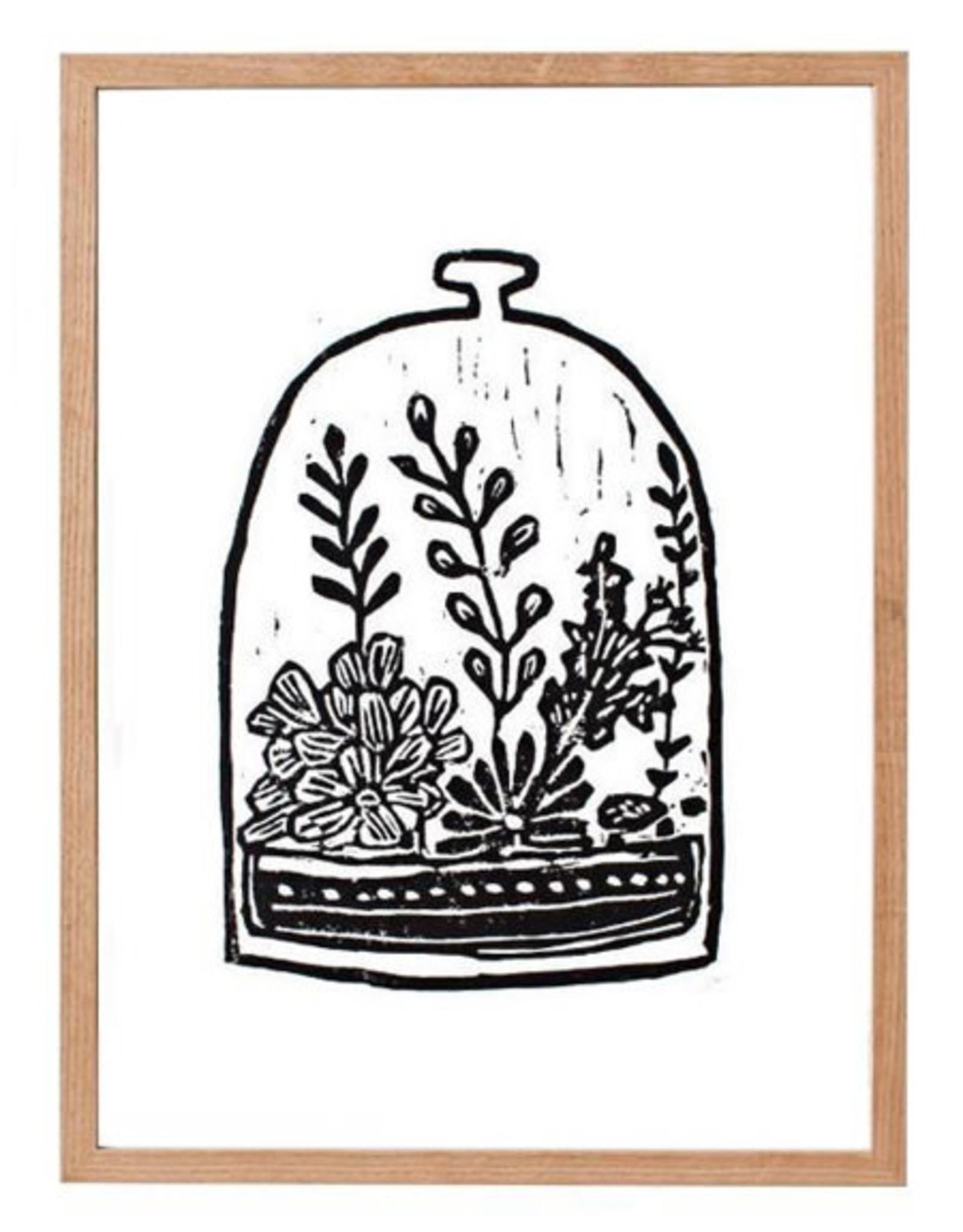 """L9"""" H12"""" Perla Ann Made by Hand Terrarium Print"""