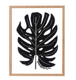 "L9"" H12"" Perla Ann Made by Hand Monstera Print"