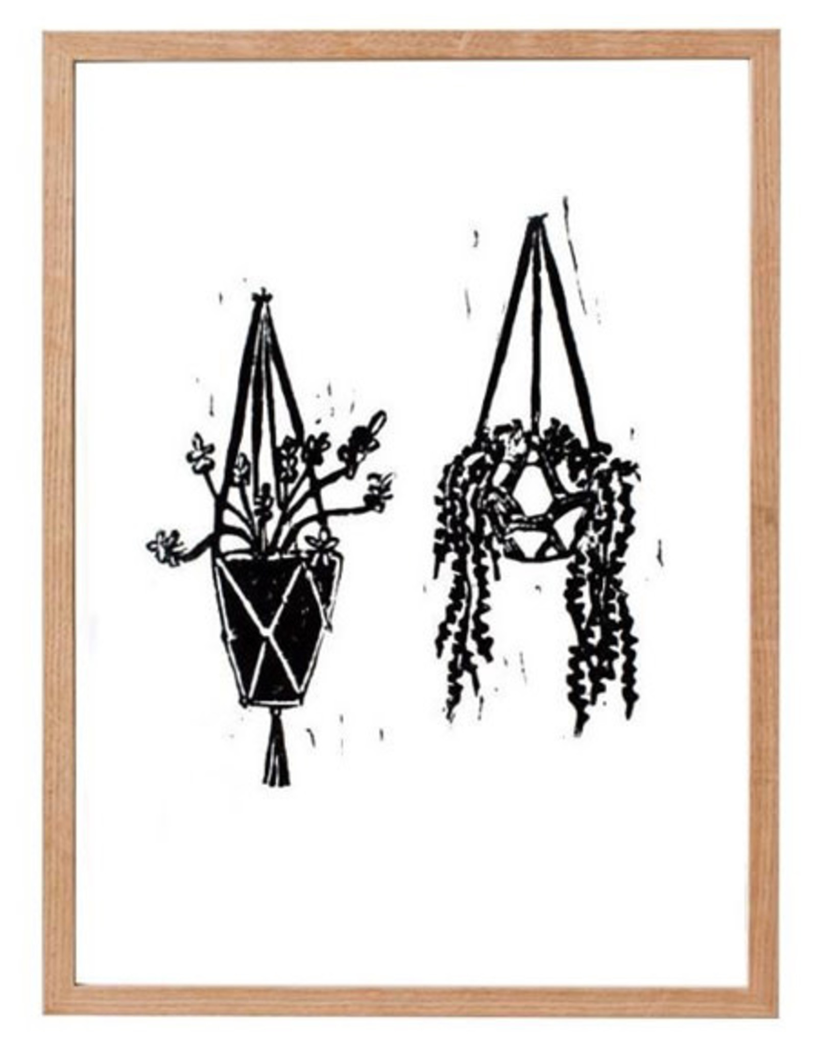 """L9"""" H12"""" Perla Ann Made by Hand Hanging Plant Print"""