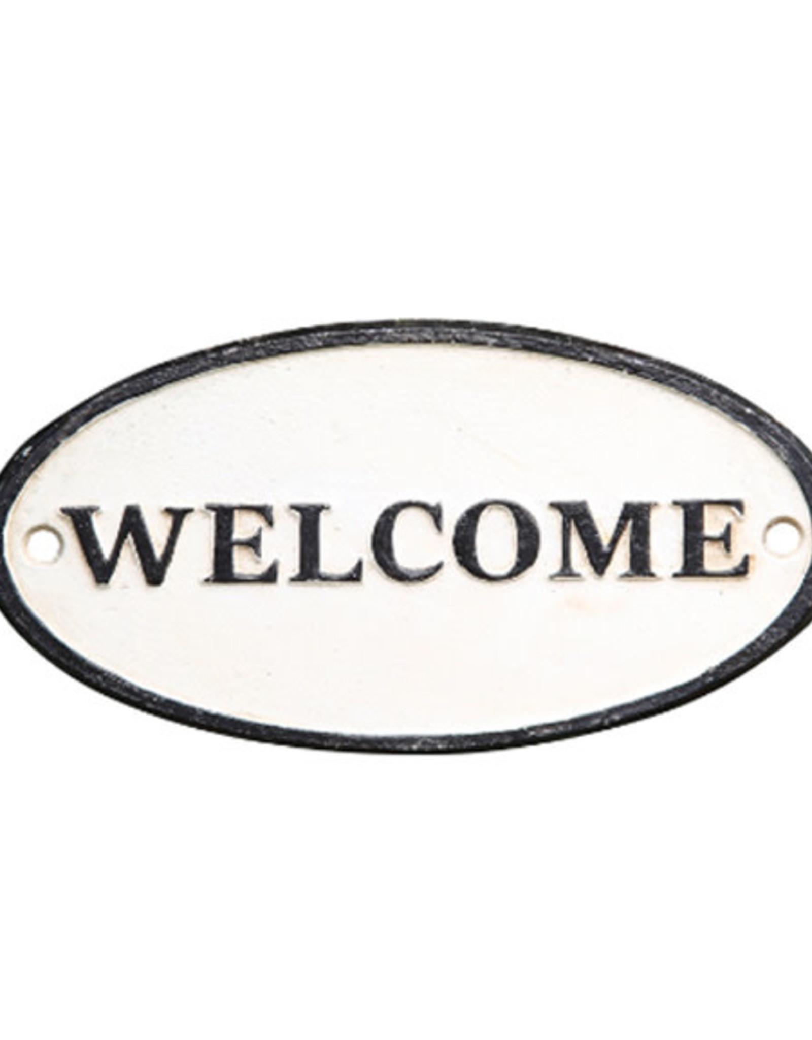 Cast Iron Welcome Sign