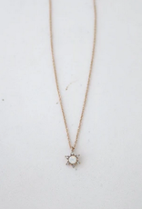 White Opal Starlit Necklace