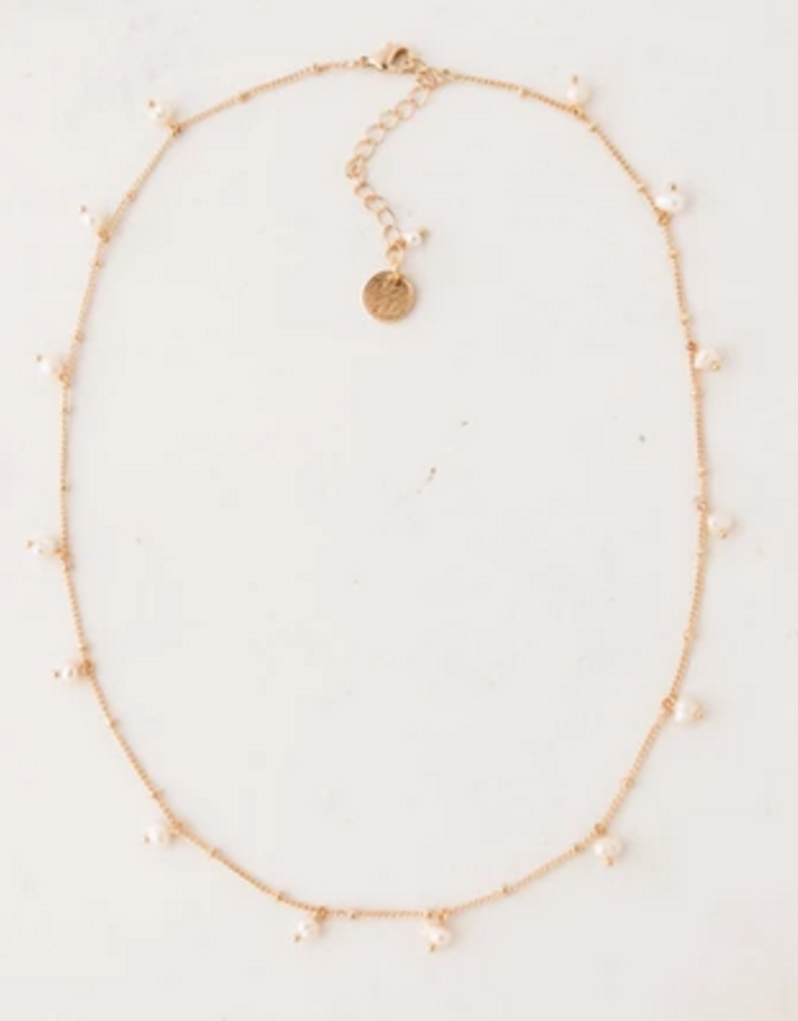 Dot Pearl Necklace - White