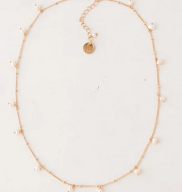 White Dot Pearl Necklace