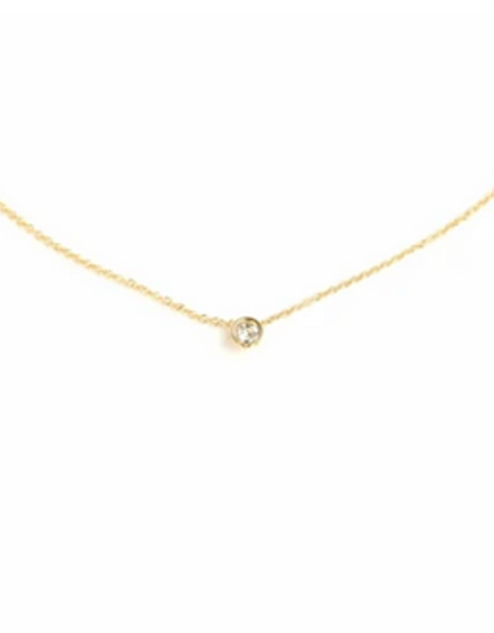 Gold Solitaire Necklace
