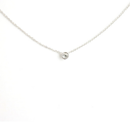 Silver Solitaire Necklace