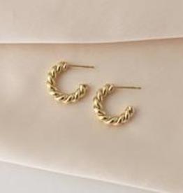 Gold Dawson Hoop Earrings