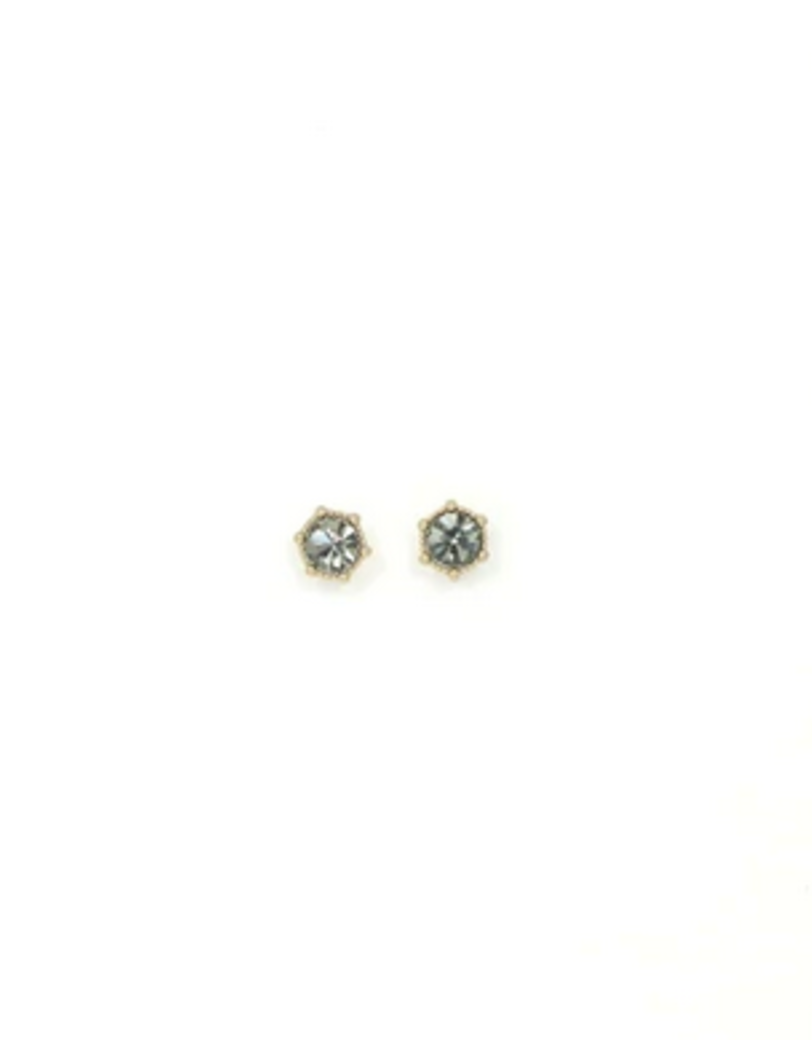Astrid Earrings Black Diamond Gold Plated Brass with Swarovski Crystals Earrings