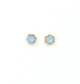 Astrid Earrings Blue Opal Gold Plated with Swarovski Crystals Earrings