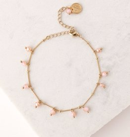 Dot Crystal Bracelet Blush