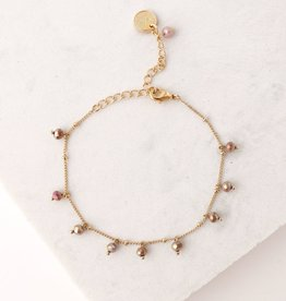 Dot Crystal Bracelet Plum