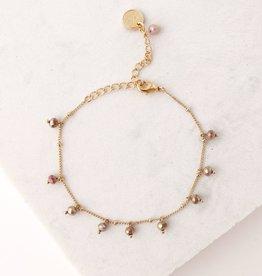 Plum Dot Crystal Bracelet
