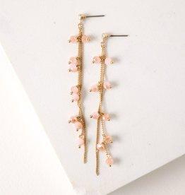 Dot Crystal Earrings - Blush