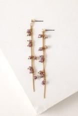 Plum Dot Crystal Earrings