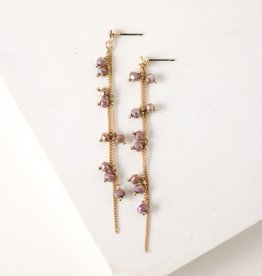 Plum Dot Crystal Earrings