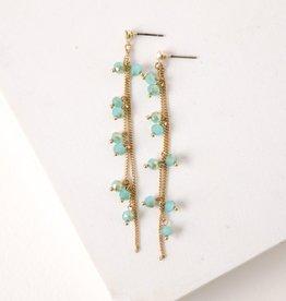 Dot Crystal Earrings - Sea