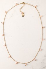 Dot Crystal Necklace - Blush
