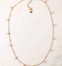 Blush Dot Crystal Necklace