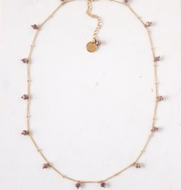 Plum Dot Crystal Necklace