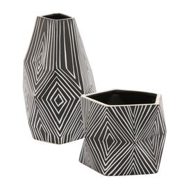Astro Black & White Vase