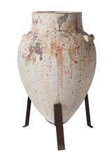 """Tuscan Urn on Stand 14.5x14x21.75"""""""
