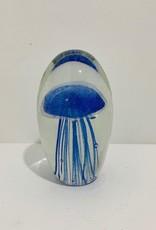 Dark Blue Jellyfish Paperweight
