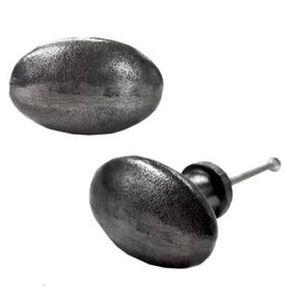 Antique Metal Oval Knob