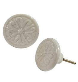 Circle Design White Knob