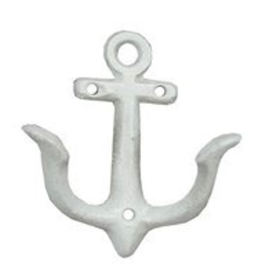 """Small White Anchor Hook L3.5"""" W4.5"""""""