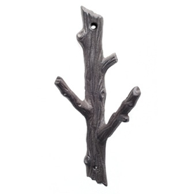 Dark Brown Large Branch Double Hook