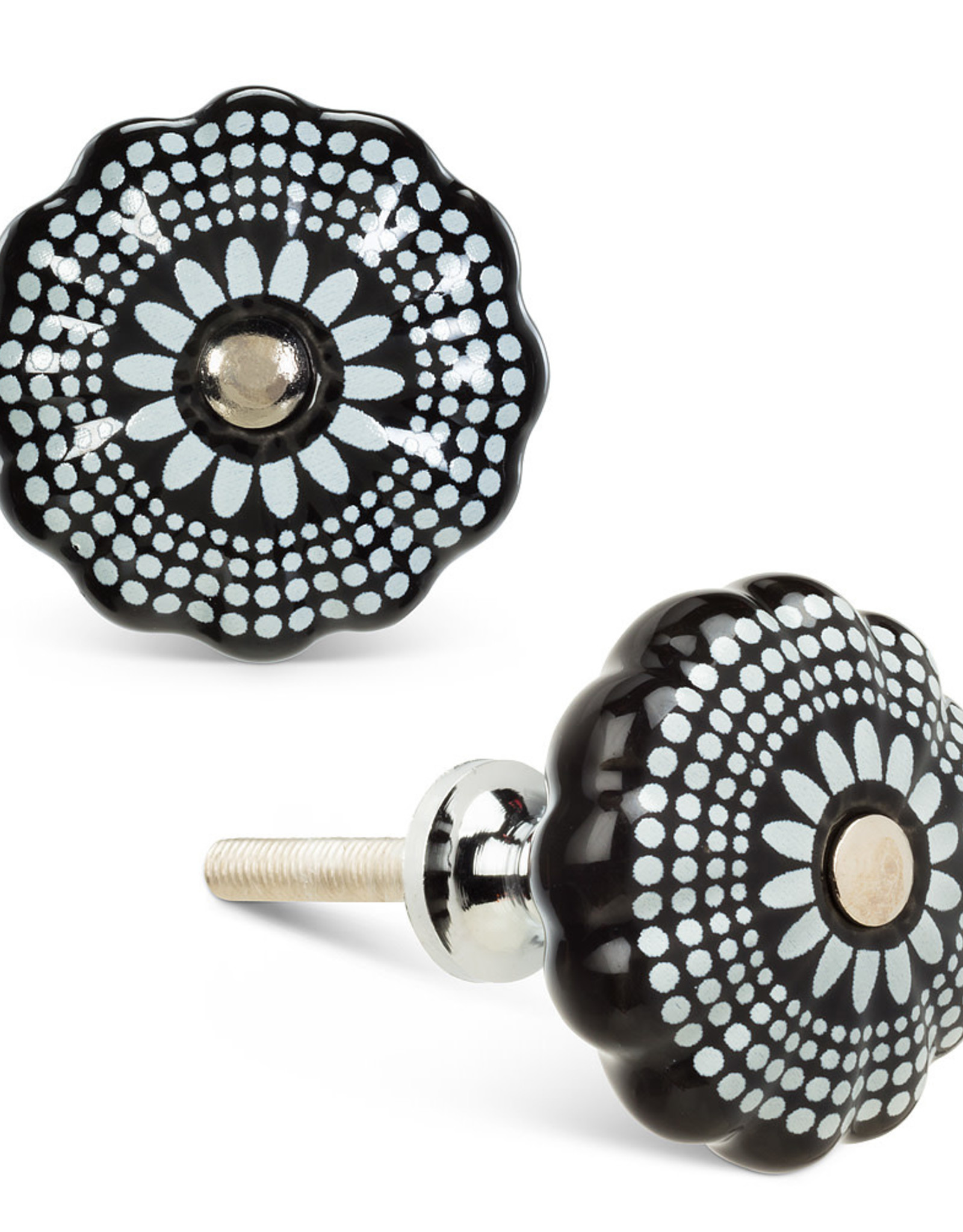 Black and White Graphic Knob