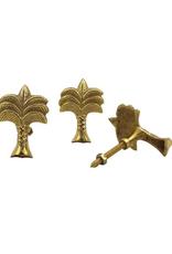 Wanda Palmtree Brass Knob