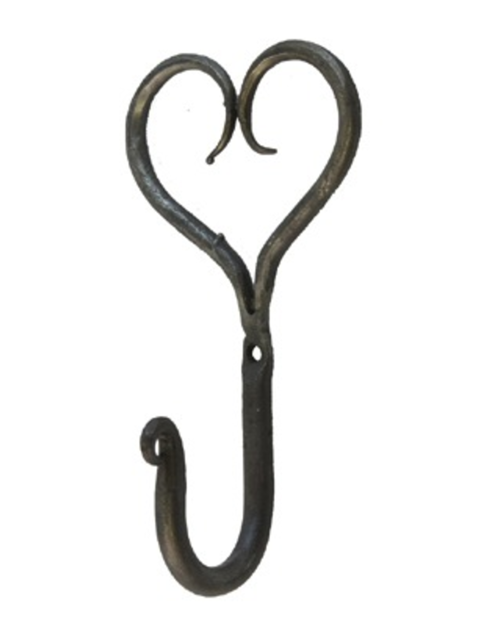Small Hand Forged Heart Hook