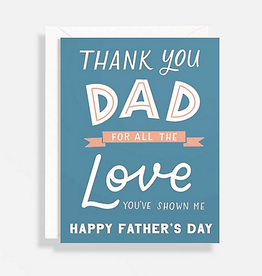 Thank You for the Love Dad Card