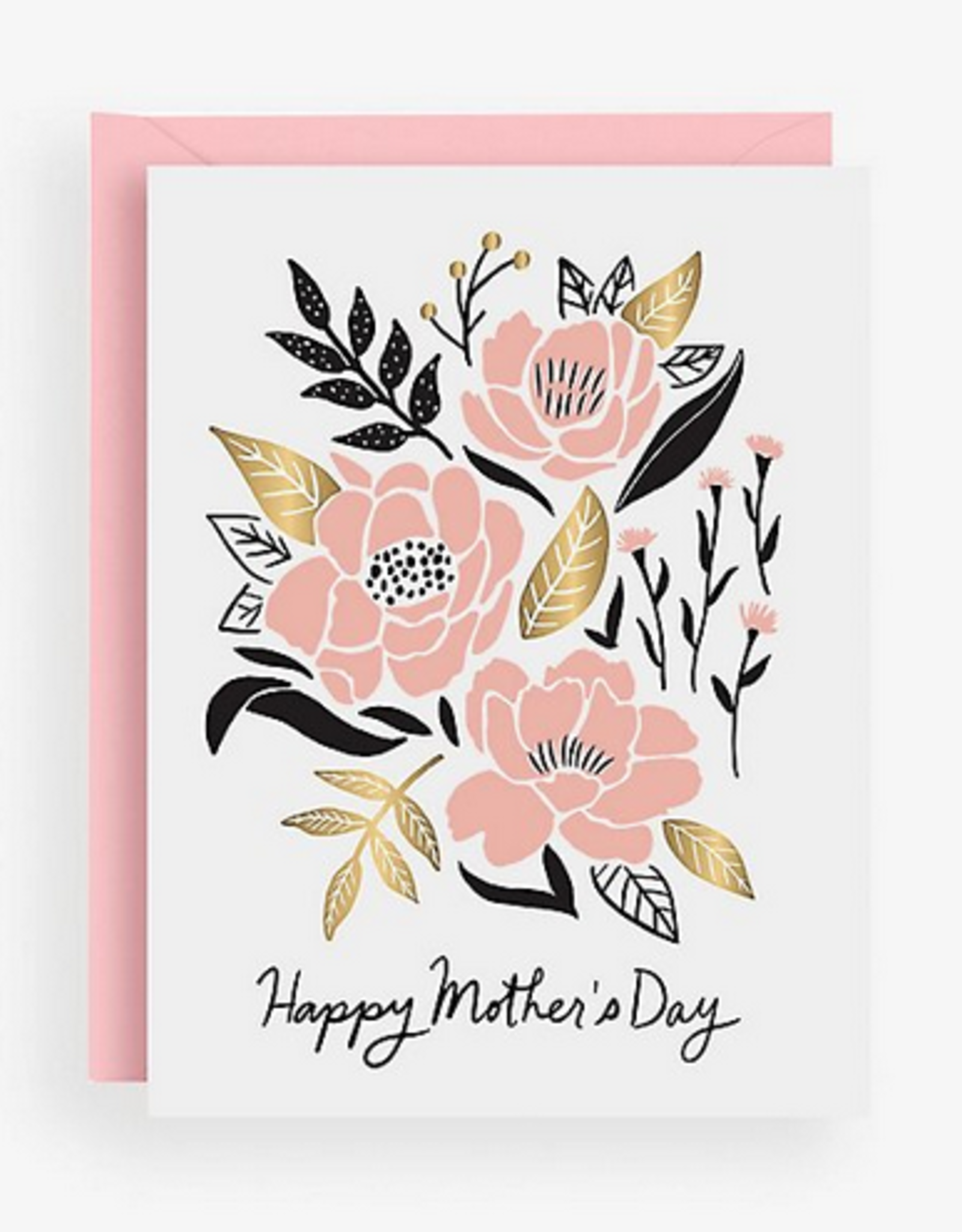 Graphic Pink Flowers Card