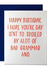Bad Grammar Card