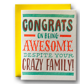 Awesome Despite Crazy Family Card