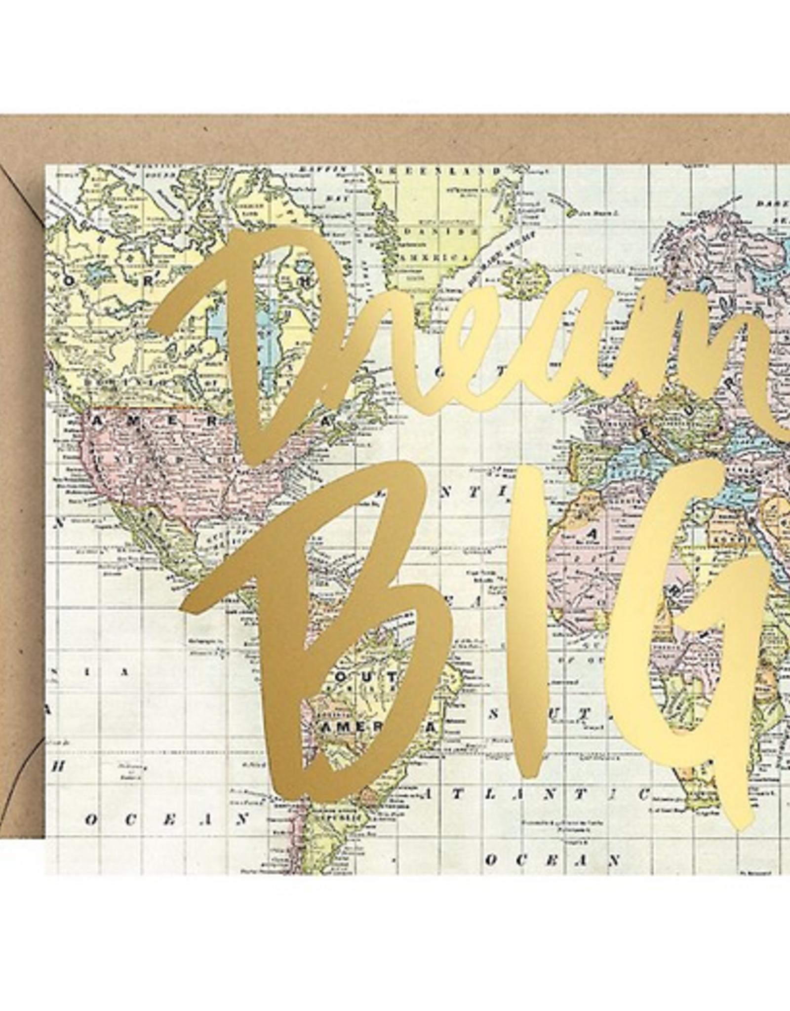 Dream Big Map Foil Card