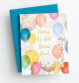 Birthday Balloons (Multi) Card