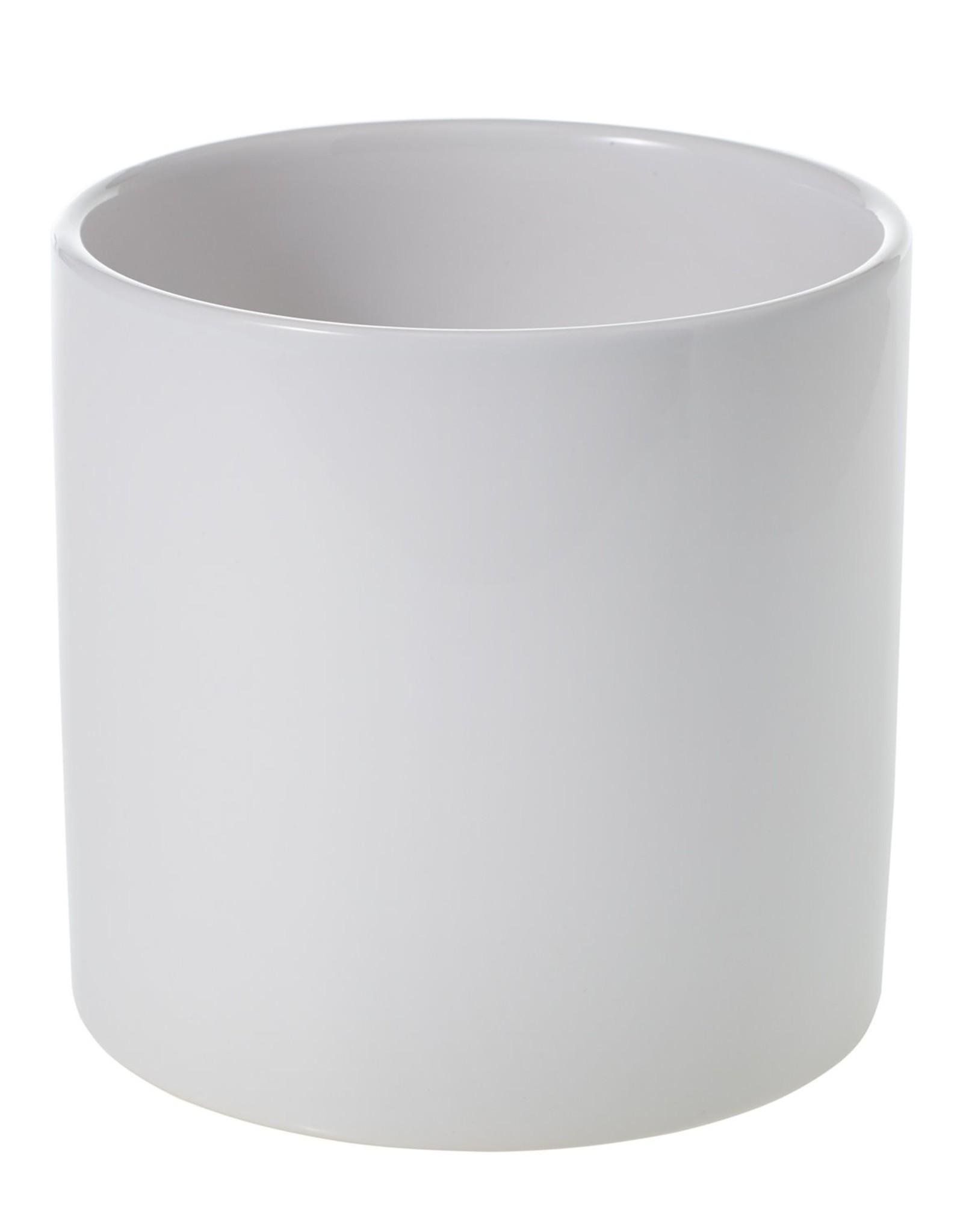 """Pot Cercle, Matte White, D6.5"""" H6.25"""""""