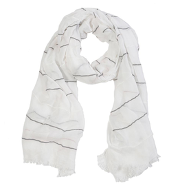 White Westport Scarf