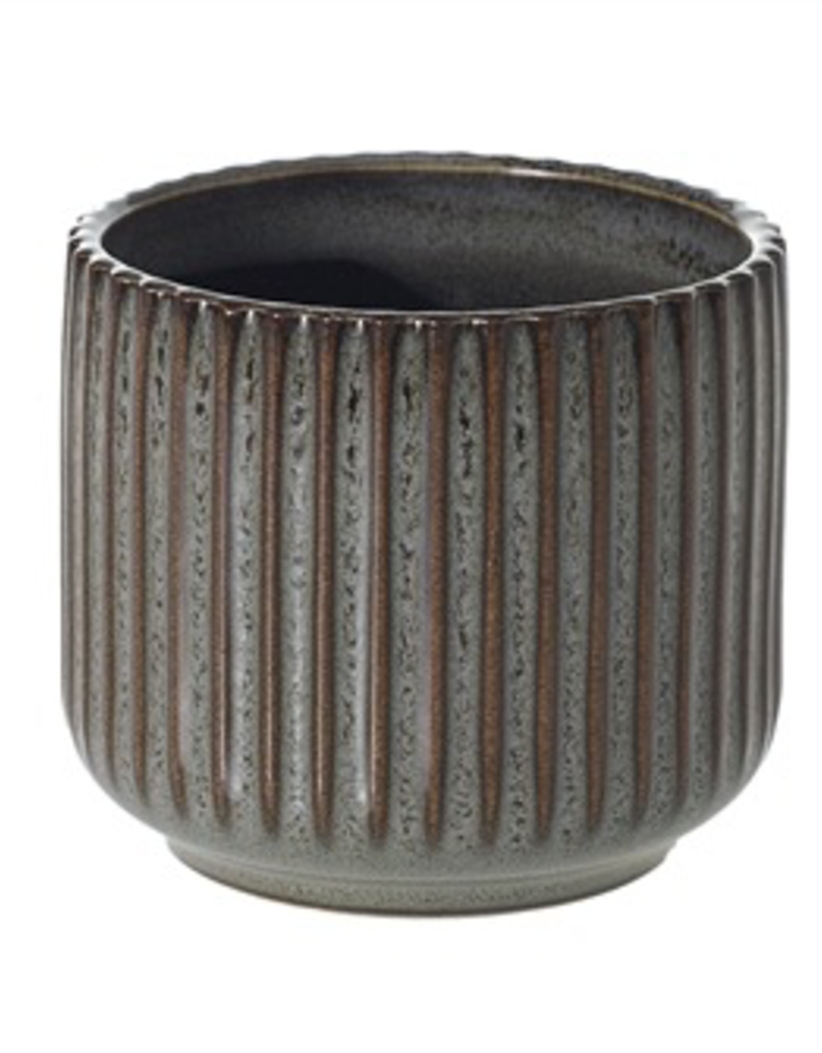 "Habitat Pot, Ribbed Ceramic, 3"" x 2.75"""